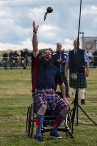Para-athletes at the Mey Highland and Cultural Games