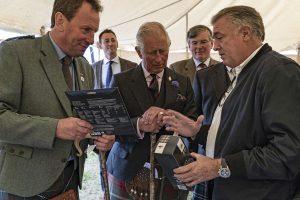 HRH the Prince Charles meeting Loch Fyne Sales Director Simon Briggs